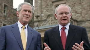 Martin McGuinness meeting George Bush at Stormont in 2008