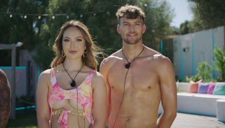 Sharon and Hugo in this year's Love Island