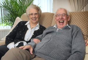 Ian Paisley relaxes with his wife Eileen at their home in Belfast in 2012. Photo: PA