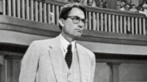A superior presence: Gregory Peck plays Atticus Finch in the 1962 film adaptation of To Kill a Mockingbird – his character is presented as a saviour in the book. Photo: AP