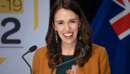Creche landing: New Zealand Prime Minister Jacinda Ardern was at work six weeks after daughter Neve was born. Photo: AP