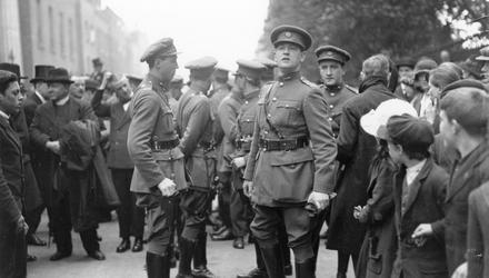 Michael Collins's walking stick is up for auction. Photo: Central Press