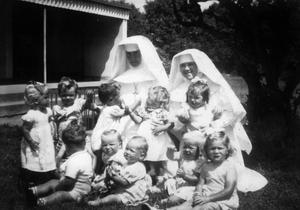 No men in sight: Infants and nuns in Bessborough Mother and Baby Home in Cork. Photo: News Dog Media