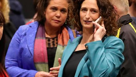 Riding high in the polls, Sinn Féin is putting itsmost marketable candidate into the field in former MEP Lynn Boylan.Pictured with party leader Mary Lou McDonald. Photo: Niall Carson/PA Wire