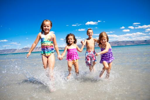 Children are rediscovering the joys of the beach