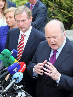 Michael Noonan and Enda Kenny