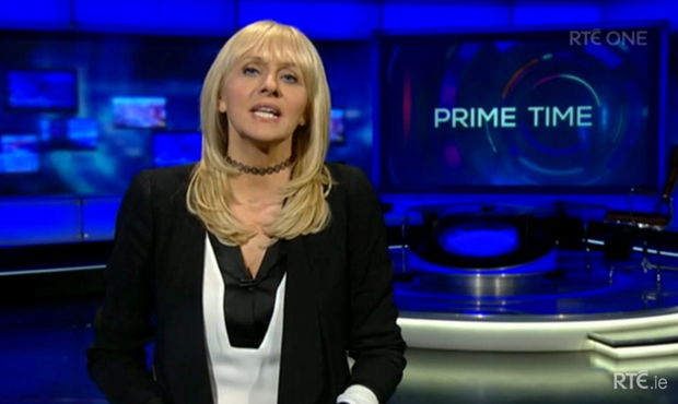 Miriam O'Callaghan wore a choker presenting 'Prime Time' last week and caused a Twitter commotion.