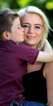 'I HAVE ABSOLUTELY NO IDEA HOW I'M GOING TO COPE: Hayley Kearns with her son Paul