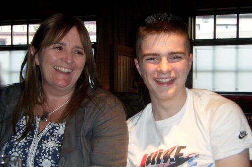 Linda Allen and her son Darragh, who was 15 when he took his own life. Darragh was 'the life and soul of the party, the glue that held 'his crew' together, the laughter, the joker, the music maker, the risk taker'