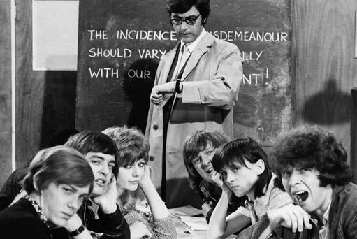 Please Sir: The 1970s film gave an affectionate and comic take on the Uk educational system. Now though, lessons are often likely to be delivered in an Irish accent, given the numbers of young Irish teachers heading there to work in both secondary and primary schools