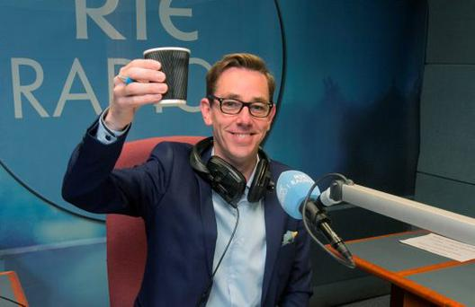 CHEERS: Ryan Tubridy making his long-awaited return to RTE Radio One after five unsatisfactory years on 2fm