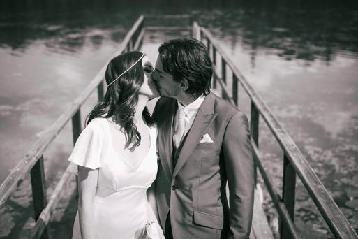 SEALED WITH A KISS: Jennifer Maguire took her husband's name, to become Jennifer Zamparelli, after they wed