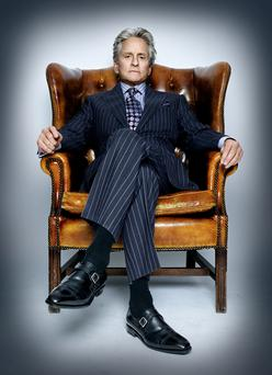 "Actor Michael Douglas who immortalised the ""greed is good"" creed as Gordon Gekko in 'Wall Street'"