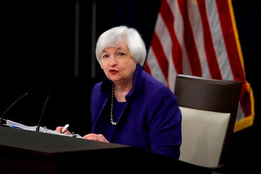US Federal Reserve chairperson Janet Yellen. Photo: Reuters