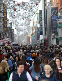 Crowds are out Christmas shopping in Dublin