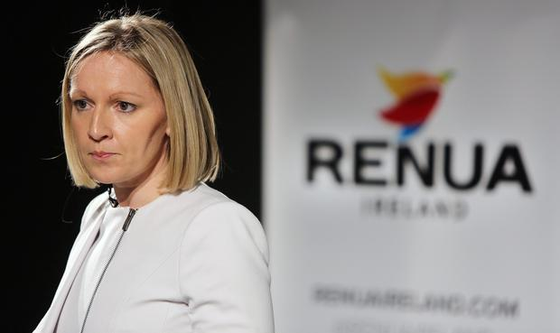 Lucinda Creighton at the launch of Renua. Photo: Gerry Mooney