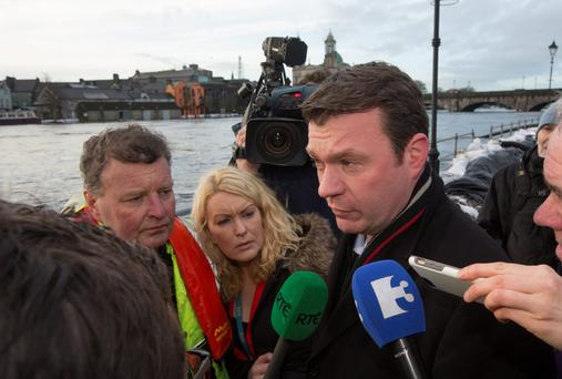 Alan Kelly Minister for the Environment, Community and Local Government. In Athlone.