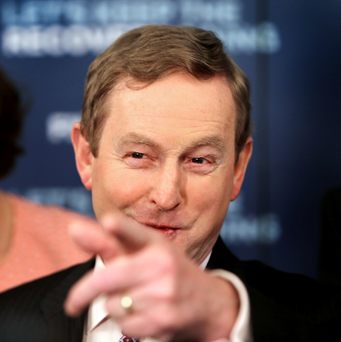 """The plan for addressing the fiscal crisis was inherited from the previous Government and the troika. Changes made by the current administration were little more than tweaks."" Pictured: Enda Kenny. Photo: Gerry Mooney"