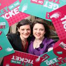 Pictured at the launch of 'Women for Election', on International Women's Day in 2012, inspiring women to 'get on the ticket', were co-founders Niamh Gallagher and Michelle O'Donnell. Photo: Conor McCabe Photography