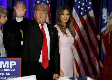 Donald Trump with wife Melania. Photo: Reuters