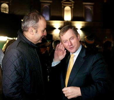Enda Kenny and Micheál Martin, who may be forced to form a coalition government, face external factors that will prove difficult to tackle – including Brexit. Photo: Maxpix