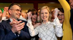 Fianna Fáil's Lisa Chambers celebrates winning a seat in Enda Kenny's Mayo heartland. (Photo: Gerry Mooney) General Election 2016 has not seen a shift to the left – Fianna Fáil and Fine Gael's combined seat tally is almost the same as it was in 2011