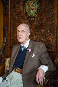 War hero: John Leslie, affectionately known as 'Uncle Jack', in later years.