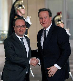French President François Hollande and UK Prime Minister David Cameron; the French leader has warned that the tremors from a potential Brexit would be felt in France and throughout the entire European Union. Photo: Getty Images