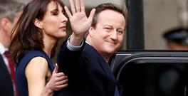David Cameron, pictured with his wife, Samantha Photo: Reuters