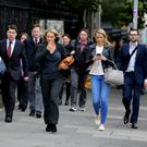 People walking to work in Dublin Photo: Tom Burke