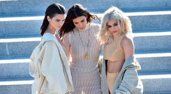(L-R) Kendall Jenner, Kim Kardashian and Kylie Jenner. Picture: Getty
