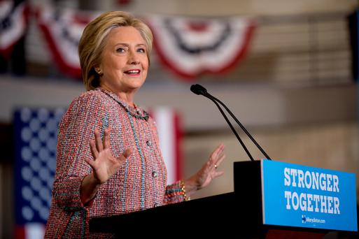 Democratic presidential candidate Hillary Clinton. Photo: AP