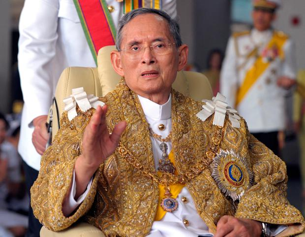 Bhumibol was named king on the day his brother died in 1946