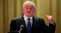 On the way back: Bertie Ahern Picture: Niall Carson
