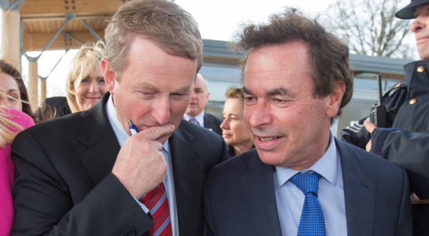 Taoiseach Enda Kenny and former Justice Minister Alan Shatter, who has criticised Minister Shane Ross's proposals for judicial appointments. Photo: :Mark Condren