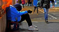 'Derek' has spent a few Christmases sleeping rough and says they don't get any easier. Stock image
