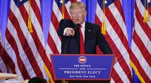 US President-elect Donald Trump argues with CNN's Jim Acosta during a recent news conference at Trump Tower, New York City. Photo: Lucas Jackson/Reuters