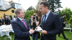 Enda Kenny is a political survivor but may face a leadership challenge by the summer by others in Fine Gael including Leo Varadkar Picture: Damien Eagers