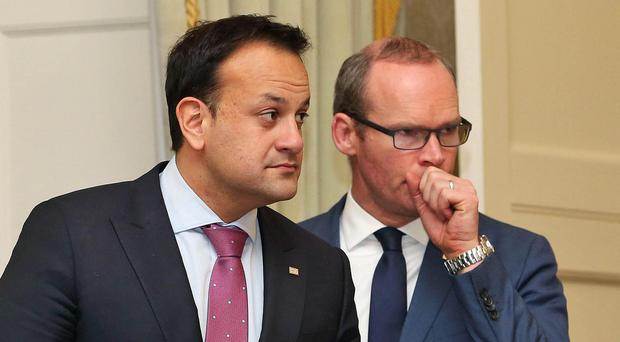 Social Protection Minister Leo Varadkar (left) and Housing Minister Simon Coveney in 2016. Both men are seen as possible successors to Taoiseach Enda Kenny. Photo: Collins Photo Agency