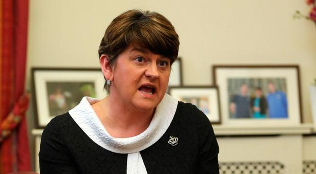 DUP leader Arlene Foster needs to move beyond sectarian politics and reach a compromise with Sinn Féin. Photo: Niall Carson/PA Wire