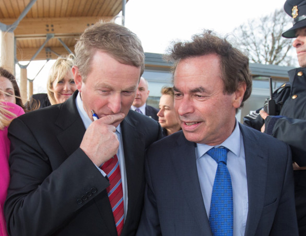 Taoiseach Enda Kenny and former Justice Minister Alan Shatter Photo: :Mark Condren