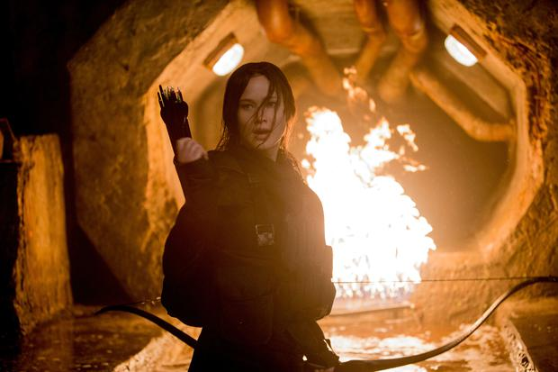 Jennifer Lawrence in the Hunger Games Photo: Lionsgate