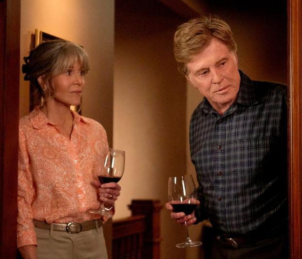 Jane Fonda and Robert Redford in the new Netflix film drama 'Our Souls at Night'.