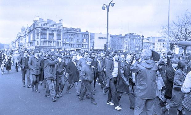 Protest: The PAYE marches of the late 1970s and early 1980s. Now employees' anger is directed at high tax.