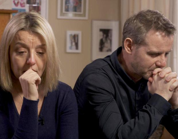 REFERRAL: Milly's parents, Fiona and Tim, who handed in urgent forms about their daughter, only for them to go unseen for seven days
