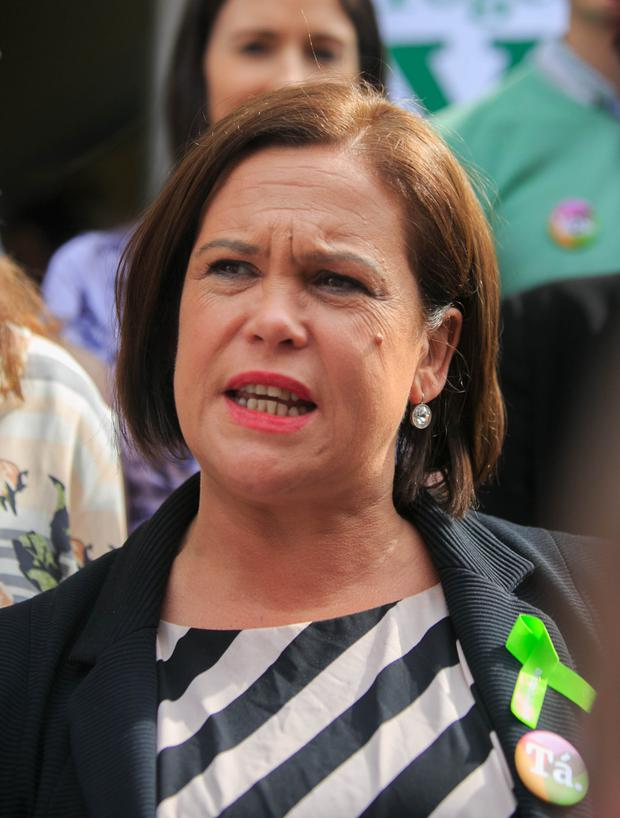SILENCE: Sinn Fein leader Mary Lou McDonald Photo: Collins