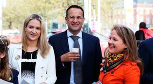 COMPASSION: Taoiseach Leo Varadkar (centre) with ministers and Fine Gael members canvassing commuters for support of the repeal of the Eighth Amendment last week Photo: PA