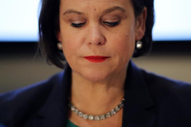 NOVICE LEADER: Mary Lou McDonald 'was hauled quickly and unceremoniously back into line' after announcing that it was not the right time for a border poll. Photo: Getty Images