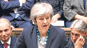 Borrowed time: British Prime Minister Theresa May has a habit of saying the opposite of what she intends to do. Photo: Reuters