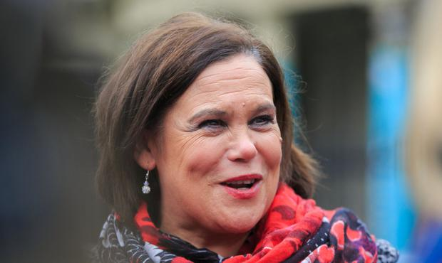DEMAND: Sinn Fein leader Mary Lou McDonald wants a unity poll if the North exits the EU without a withdrawal agreement. Photo: Gareth Chaney / Collins